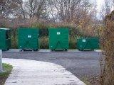 Sběrný dvůr - kontejnery na tříděný odpad